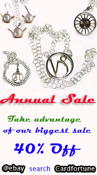 Save up to 40% during Cardfortune's unique design amulets and charms Sale!